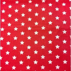 Pamutvászon – Piros színben, csillag mintával
