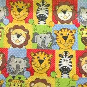 Pamutvászon – Afrikai állat mintával