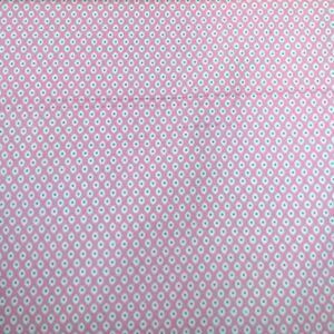 Pamutvászon – Pávaszem mintával, rózsaszín színben