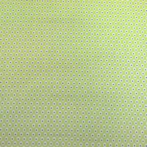 Pamutvászon – Pávaszem mintával, zöld színben