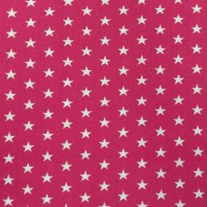 Pamutvászon – Pink színben, csillag mintával