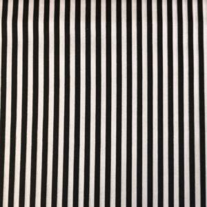 Pamutvászon – Fekete keskeny csíkos mintával