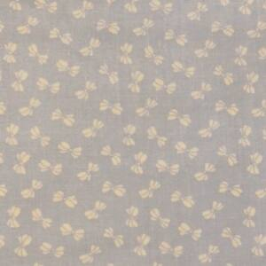 Pamutvászon – Halványkék színben, masni mintával