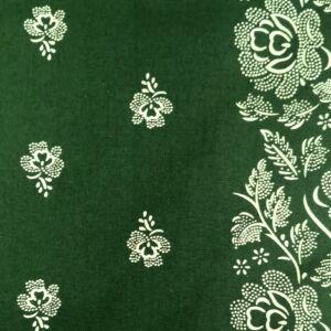 Pamutvászon – Kékfestő bordűrös mintával, zöld színben