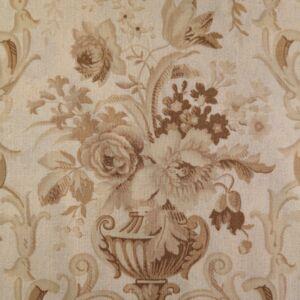 Extra pamutszövet – Bézs színű ornamentális virág mintával
