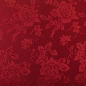 Jacquard 313 – Nagyméretű rózsa mintával, bordó színben