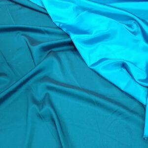 Szatén – Búzavirág kék színben, kétoldalas