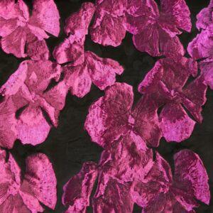 Jacquard – Nagyméretű virág mintával, ciklámen színben