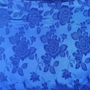 Jacquard 313 – Nagyméretű rózsa mintával, kék színben