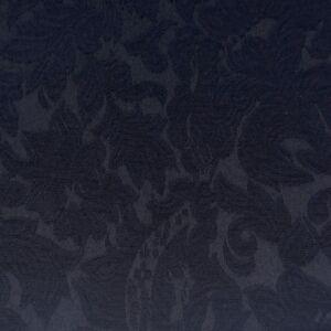 Jacquard pamut – Sötétkék színű virág mintával