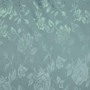 Szatén jacquard – Nagyméretű rózsa mintával, világoskék színben