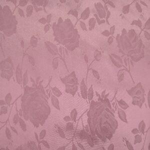 Szatén jacquard – Nagyméretű rózsa mintával, rózsaszín színben