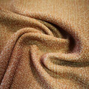 Viszkóz selyem – Narancssárga színű cirmos mintával