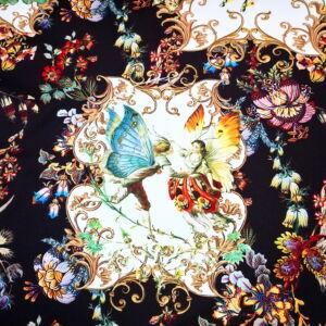 Poliészter selyem – Tündéres mintával