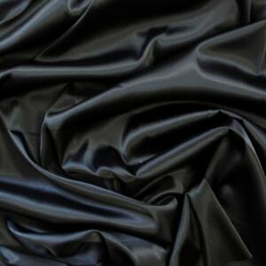 Princess szatén –  Fekete színű üni, elasztikus