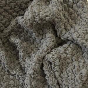 Kötött kelme – Szürke színben, nagy buklé mintával