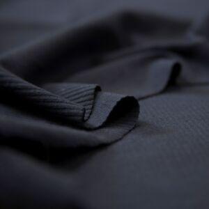 Passzé anyag – Körkötött, fekete színben
