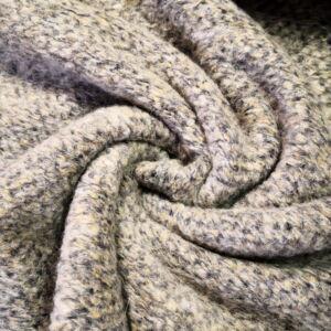 Kötött kelme – Bézs és szürke színű buklés