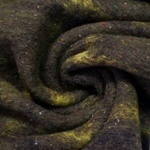 Kötött kelme – Zöld színű nagy kockás mintával