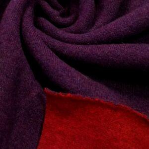 Kétoldalas kötött kelme – Bordó és lila színben