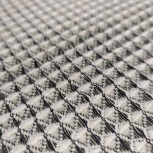 Kötött kelme – Kockás, 3D hatású anyag