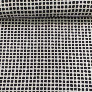 Kötött kelme – Fekete és fehér kocka mintával