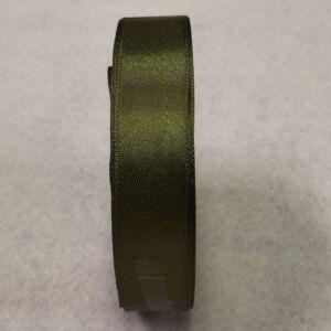 Szatén szalag – Olajzöld színben, 2cm