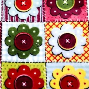 Wellsoft (Léda) – Virág alakú gomb mintával