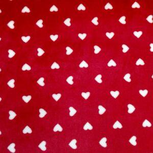 Wellsoft (Léda) – Piros alapon fehér szívecske mintával