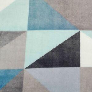 Wellsoft (Léda) – Háromszög mintával, kék árnyalatban