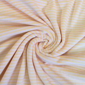 Bébiplüss –Napsárga-fehér csíkos mintával