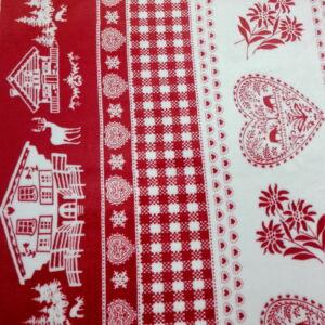 Wellsoft (Léda) – Piros és fehér karácsonyi mintával