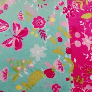 Wellsoft (Léda) – Rózsaszín virág és pillangó mintával