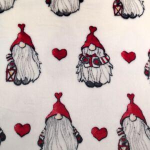 Wellsoft (Léda) – Fehér alapon karácsonyi manó mintával