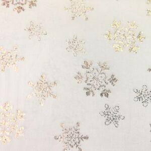 Wellsoft (Léda) – Fehér alapon arany színű hópihe mintával