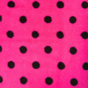 Wellsoft (Léda) – Pink színű alapon fekete pöttyös mintával