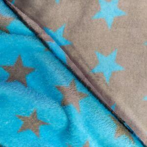 Wellsoft (Léda) – Szürke és kék csillag mintával, kétoldalas