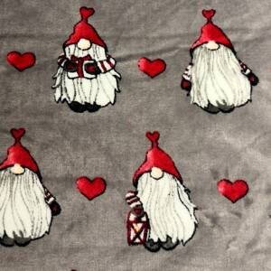 Wellsoft (Léda) – Szürke alapon karácsonyi manó mintával