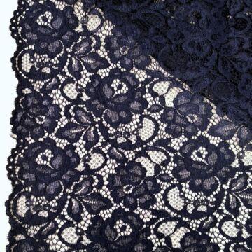 Bordűrös csipke – Sötétkék színben, zsinóros dísszel, elasztikus