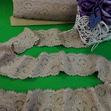 Csipke szalag – Fahéj színű elasztikus műszálcsipke