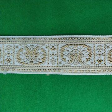 Hímzett szalag – Fehér alapon, görög mintával, 4cm