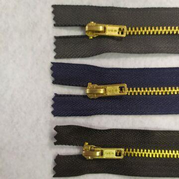 Fém cipzár – VT0-ás, zárt, 18 cm hosszú, réz, 3 színben