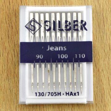 SILBER varrógéptű – Háztartási géphez, Farmer varrótű szortiment, 90-110