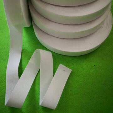 Gumiszalag, laza – Nadrág gumipertli fehér színben, 25mm