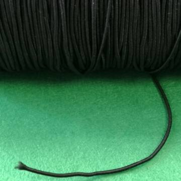Kalapgumi – Hengeres kalapgumi fekete színben, 1,5mm