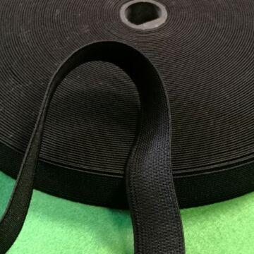 Gumiszalag,erős – Nadrág gumipertli fekete színben, 20mm
