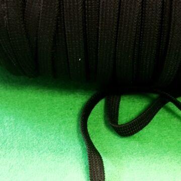 Gumiszalag – Gumipertli, laza, fekete színben, 6mm