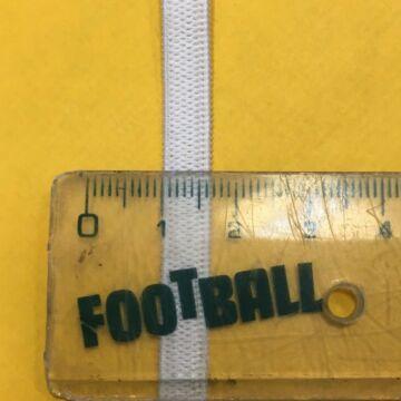 Gumiszalag 300m/tekercs – Gumipertli, laza, fehér színben, 6mm