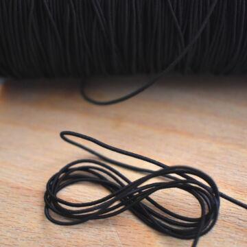 Kalapgumi – Hengeres kalapgumi fekete színben, 1mm