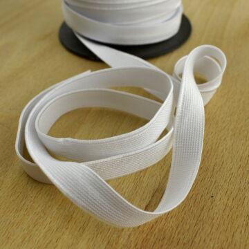 Gumiszalag – Nadrág gumipertli fehér színben, 13mm